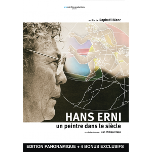 Poster for a documentary of the life of Hans Erni